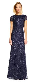 papell dresses scoop back sequin gown papell