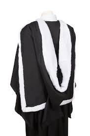 academic hoods fur trimmed academic shape graduation gowns