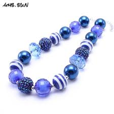 blue beads necklace images 2018 mhs sun fashion navy blue design kid chunky bead necklace jpg