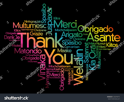 thank you word cloud background all stock vector 520294975