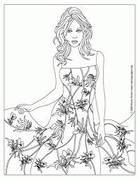 elegant in addition to beautiful fashion design coloring pages