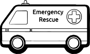 cartoon cars coloring pages ambulance emergency rescue car coloring page wecoloringpage