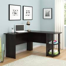tables appealing l shaped desk with side storage multiple finishes