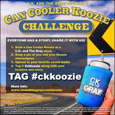 koozie challenge u2014 ck and the gray