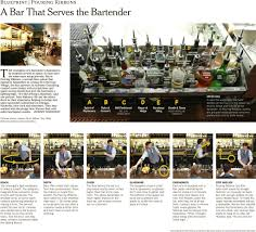 at pouring ribbons a bar that serves the bartender to live in