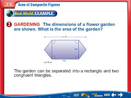 main idea vocabulary composite figure find the area of composite