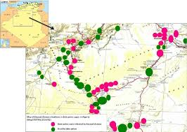 algeria map map of bayoud disease situation in date palms oasis in algeria