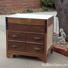 kitchen sink cabinet we repurpose from antique dresser custom