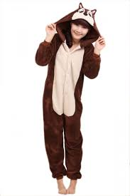 coffee cool womens flannel chipmunk halloween jumpsuit costume