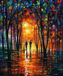 dark park u2014 palette knife oil painting on canvas by leonid afremov