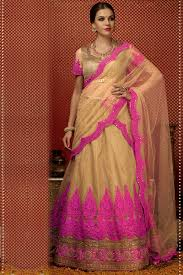 Pink Colour Combination Dresses by Beige And Pink Color Net Fabric Lehenga Choli U2013 Vivaah Styles
