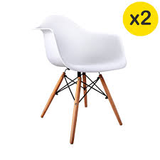 Replica Eames Daw Eiffel Arm Chairs White Four Legs Furniture