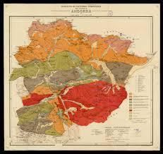 Andorra Map Mapa Geológico De Andorra 1950 Por J Solé Sabarís Y N Llopis