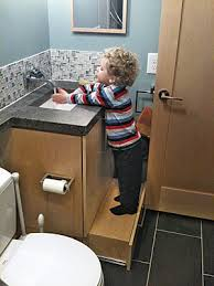Lower Bathroom Cabinet Drawer  A Step Stool It Slides Out And - Bathroom step