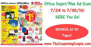 Office Depot Office Depot Office Max Ad Scan For 7 24 To 7 30 16 Browse 30 Pages
