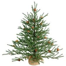 2 green pine trees artificial tree with potted stand
