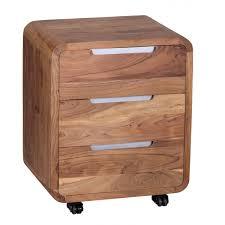 Schreibtisch Naturholz Der Rollcontainer Online Shop Finebuy