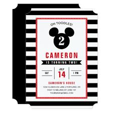 mickey mouse icon black u0026 white striped birthday card zazzle