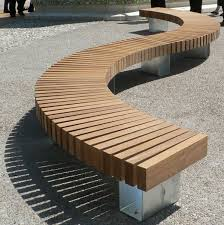 curved outdoor bench and their features cool home designs