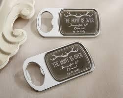 personalized bottle opener wedding favor personalized the hunt is bottle opener