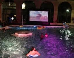 Backyard Movie Night Dive In Movie Hosting A Movie Night At A Backyard With A Pool