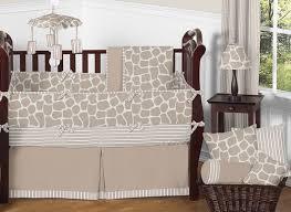 giraffe neutral baby bedding 9 pc crib set by sweet jojo designs