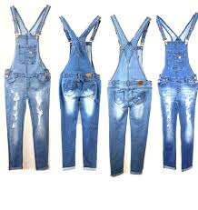 women denim jeans overall destroy long skinny pants jumper ripped
