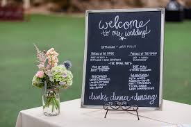 Wedding Program Chalkboard Jessica U0026 Mike U0027s Saratoga Springs Wedding Bay Area Wedding