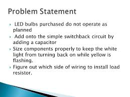 led switch back circuit ppt download