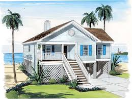 Beach House Plans On Pilings Small Beach House On Stilts Plans Luxihome