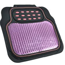 pink and black cars pink and black metallic design rubber floor mats car suv 4pc front