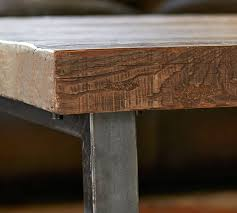 How To Reclaim Barn Wood Griffin Reclaimed Wood Coffee Table Pottery Barn