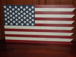 Reverse Color American Flag American Flag My Son Made Out Of Old Fence Pickets For His