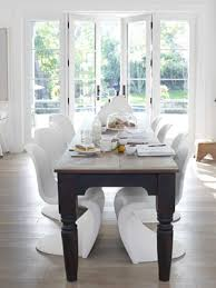 antique table with modern chairs an open casual california home antique dining rooms modern and room