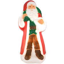 31 inch old world santa lighted plastic blow mold form bronner u0027s