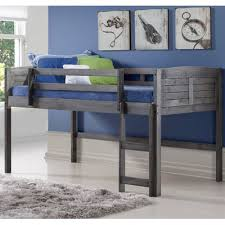 donco kids twin low loft bed u0026 reviews wayfair