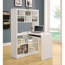 white hollow core corner desk