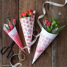 flowers for valentines day spread the with these diy printable cones for s day