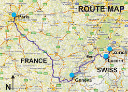 swiss map switzerland and tour package 7 days