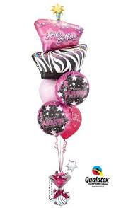 30th birthday balloon delivery my heart is with you bouquet balloon bouquet