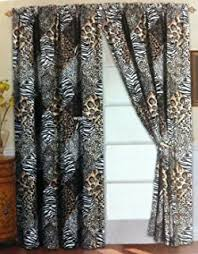 Leopard Print Curtains And Bedding Amazon Com 7 Pieces Multi Animal Print Comforter Set King Size