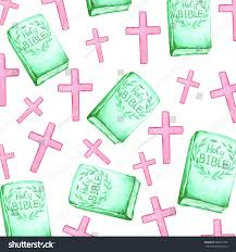 watercolor easter crosses bible stock illustration 600531725