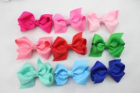 cheap ribbon 2 75 inch cheap ribbon boutique hair bows for children hair