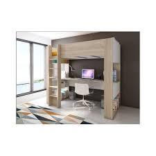 lit bureau mezzanine vente unique lit mezzanine noah avec bureau et rangements
