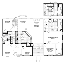 Home Floor Plan by The Hacienda Ii 2580 Sq Ft Manufactured Home Floor Plans In