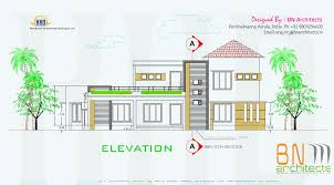 Floor Plan With Elevation by Floor Plan 3d Views And Interiors Of 4 Bedroom Villa Kerala