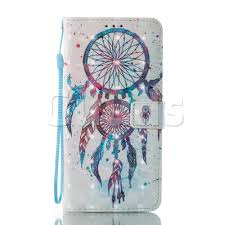 colordrops wind chimes 3d painted leather wallet case for lg x
