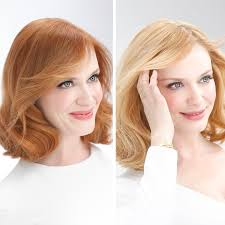 preview b a photos christina hendricks goes from redhead to