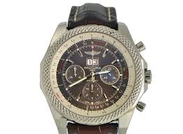 breitling bentley diamond breitling bentley 6 75 speed stainless on leather strap for 5 950