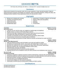 Shipping And Receiving Resume Samples by 20 Production Line Worker Resume Samples Vinodomia